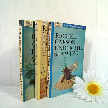 Under The Sea Wind; The Edge Of The Sea; The Sea Around Us by Rachel Carson 3 Books Collection with Illustrations - Set of 3 Paperback Books