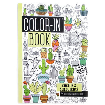 International Arrivals Cactus & Succulents Travel Size Color-in' Book