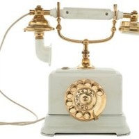 One Kings Lane - Russell Johnson - 1920s White Ericsson Desk Phone
