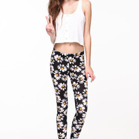 DAISIES KNIT LEGGINGS