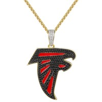 Men's Atlanta Falcons NFL Logo Iced Out Pendant Chain