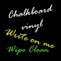 "Metro Chalk Board Craft, Cricut & Sign Vinyl Decal Adhesive-Backed Sticker Film 24""x12"""