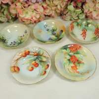 4 Beautiful Antique Rosenthal Porcelain Hand Painted Bowls Artist Signed
