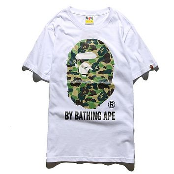 BAPE Men Fashion Casual Pattern Print Camouflage T-shirt