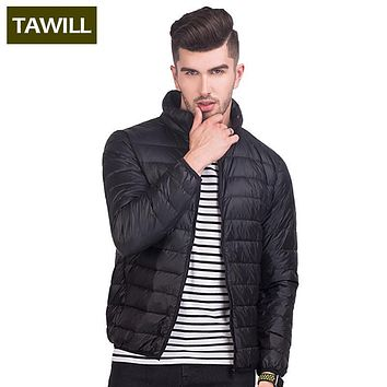 TAWILL Fashion Thin White Down Duck Jacket Men's Coats Autumn Casual Winter Jacket Men 2017 New Brand Clothing 2017D