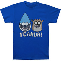 Regular Show Men's  Yeahuh! Blue T-shirt Blue Rockabilia