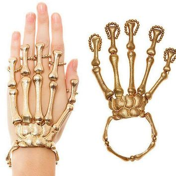 CREYON skeleton hand bracelet for halloween and all occasions great conversation piece se