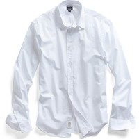 Poplin Tab Collar Dress Shirt in White