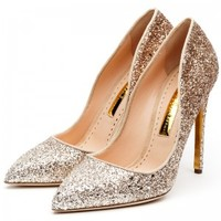 Rupert Sanderson | Elba in Apricot Glitter Degradee | High Heel Pumps