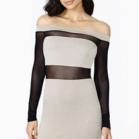 Block Out Mesh Dress