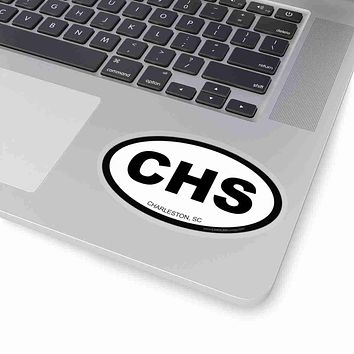 Charleston CHS Euro Oval Sticker - Black