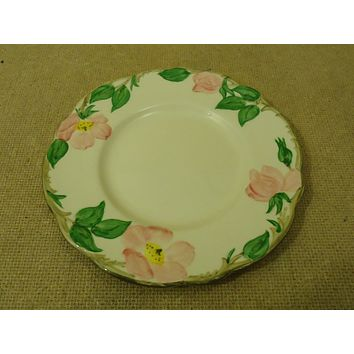 Franciscan Vintage Bread Butter Plate 6 3/8in Floral Desert Rose USA Earthenware -- Used