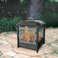 Sturdy Square Outdoor Wood Burning Fireplace