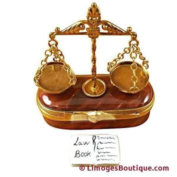 SCALES OF JUSTICE LIMOGES BOXES