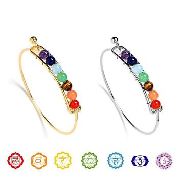 Elegant 7 Chakra Healing Balance Energy Bracelet-Sophistication at its Best
