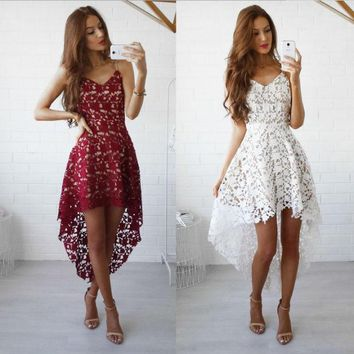 ONETOW Stylish Summer Hot Sale Lace Prom Dress One Piece Dress [9893986957]
