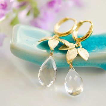 Pure waters earrings by joojooland on Etsy