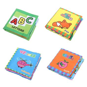 4 Style Baby Toys Soft Early Education Cloth Books Rustle Sound Infant Rattle Toy Newborn Crib Bed Baby Toys 0-36 Months