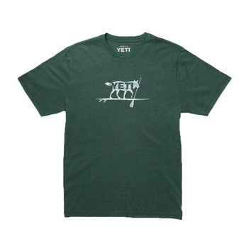 Paddle On T-Shirt in Forest Green by YETI