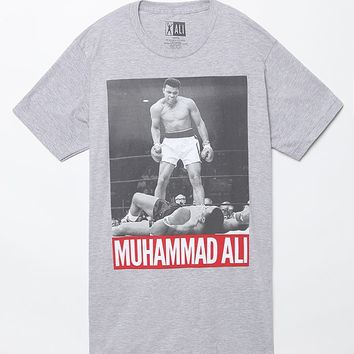 Muhammad Ali T-Shirt - Mens Tee - Grey
