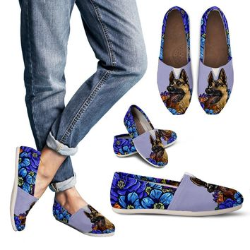 Illustrated German Shepherd Casual Shoes