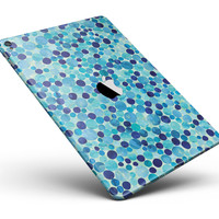 """Mixed Blue Watercolor Dots Full Body Skin for the iPad Pro (12.9"""" or 9.7"""" available)"""