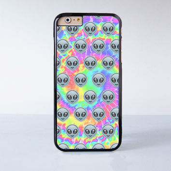 Cute Alien Emoji Tye Dye Cool Plastic Case Cover for Apple iPhone 4 4s 5 5s 5c 6 6s Plus