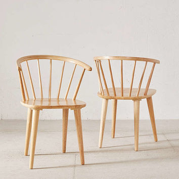 Lucy Spindle Dining Chair Set | Urban Outfitters