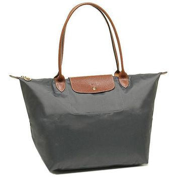 Longchamp - Le pliage Shoulder Bag in Gun Metal