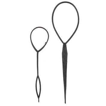 2pcs/set Hair Styling Braid Maker Pull Hair Needle Ponytail Hair Braider Creator Loop Tail Clip Home Use DIY Hairdressing Tools