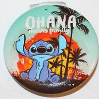 "Licensed cool Disney Lilo and Stitch Hawaii OHANA Family Sunset 1 1/4"" Button Pin Back Pinback"