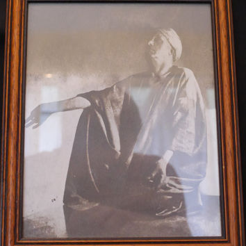 Aleister Crowley - repro photographic print in frame.