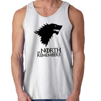 The North Remembers Game of Thrones New For Mens Tank Top *