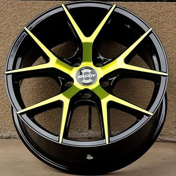 18X8.0 5X108 Yellow and White Beautiful Car Alloy Wheel Rims