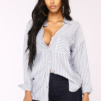 Minna Striped Shirt - Blue/White