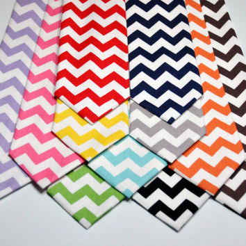 Men's Tie Chevron Neckties for Guys by MeandMatilda on Etsy