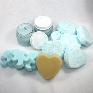 Completely Customizable Bath and Body Gift Set -  Wedding, bridesmaids, graduation, baby shower, thank you, soap, bath bomb, solid lotion