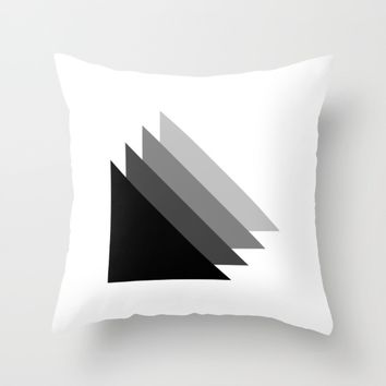 #36 Triangles Throw Pillow by Minimalist Forms