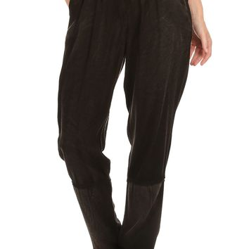 Solid Full Length Relaxed Fit Sweat Style Pants