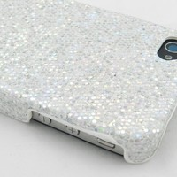 Silver Sparkles Case for Apple iPhone 4, 4S (AT&T, Verizon, Sprint)