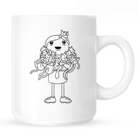 Crazy Cat Lady Cartoon Mug