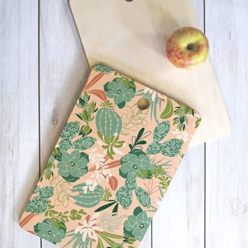 Heather Dutton Succulent Garden Blush Cutting Board Rectangle
