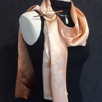 Calla Lily - Hand Painted Silk Scarf