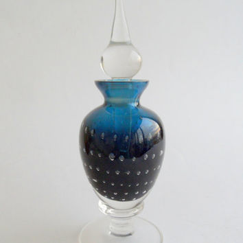 KOSTA Sweden Perfume Bottle, Scandinavian Art Glass, Vicke Lindstrand