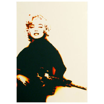 MARILYN MONROGUE PRINT Version 11 x 13 Framed Print Graffiti Street Art and Pop Art Inspired Original Artwork