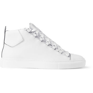 Balenciaga - Arena Leather High Top Sneakers | MR PORTER