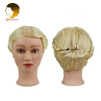 Dummy For Hairstyles Hairdressing Training Head 18 Inches Human Hair Doll Head Mannequin Head Hairstyles For Makeup Practice