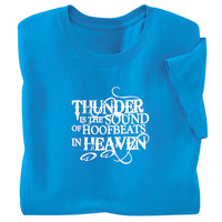 Hoofbeats in Heaven Tee - Horse Themed Gifts, Clothing, Jewelry and Accessories all for Horse Lovers | Back In The Saddle