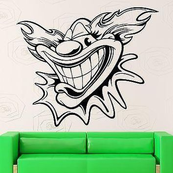 Wall Stickers Vinyl Decal Circus Clown Positive Decor for Kids Room Unique Gift (ig1873)