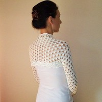 Ivory BRIDAL SHRUG BOLERO / Wedding Lace Bolero